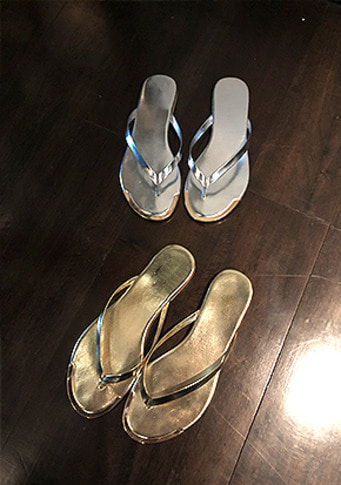 gold line Flip flops(5color)
