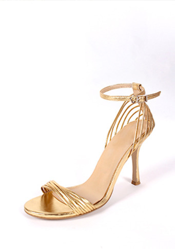 tom strap sandals in gold